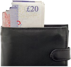 wallet and banknotes